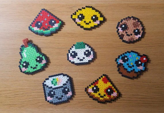 Kawaii Noodles Perler Beads By Materiagirl Perles Hama Kawaii