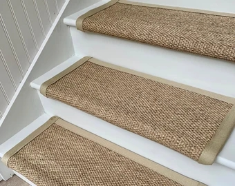 Carpet Stair Treads Etsy | Rustic Carpet Stair Treads | Wood | Mat | Non Slip | Wool | Overstock