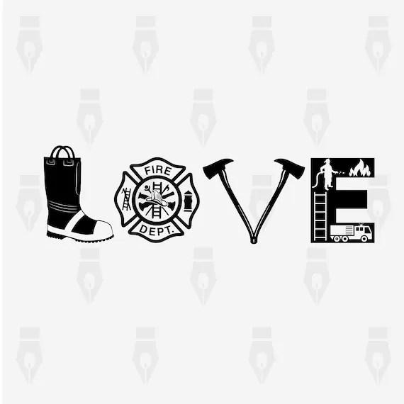 Download Love Firefighter Love Firefighter Sign digital clipart ...