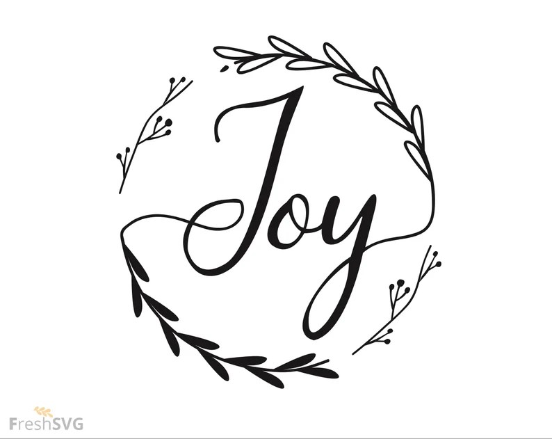 Download Joy Christmas Joy wreath svg joy DXF cut file svg cut ...