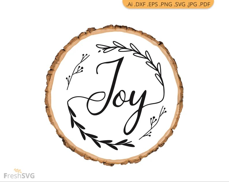 Download Joy Christmas Joy wreath svg joy DXF cut file svg cut ...