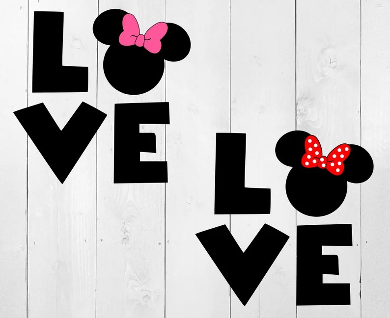 Download Minnie Love SVG Mickey Love SVG Minnie ears Disney SVG   Etsy