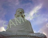 Buddha under perfect sky
