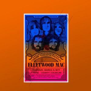 fleetwood mac poster etsy