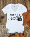 Women S V Neck Mock Up Next Level N1540 Ideal V Trendy Etsy