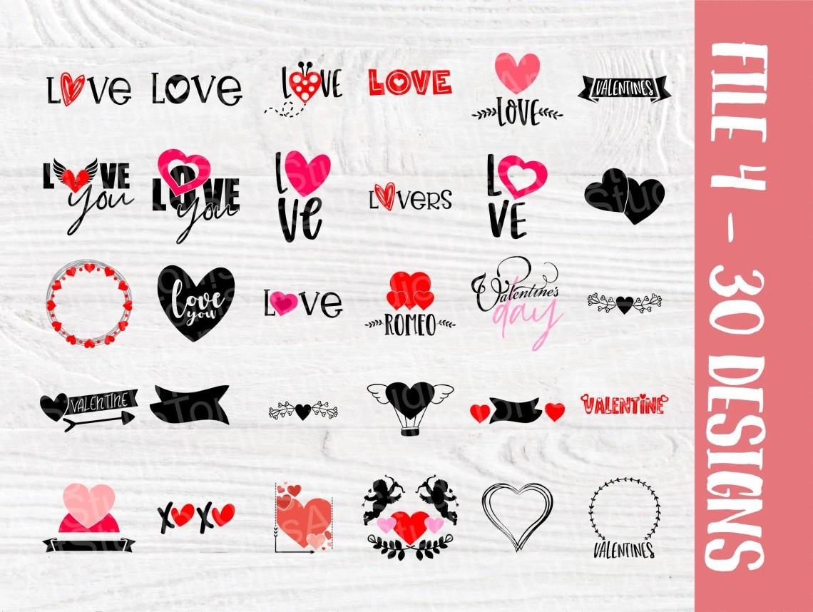 Download MEGA Valentine's Bundle   110 Valentines Designs   Svg ...