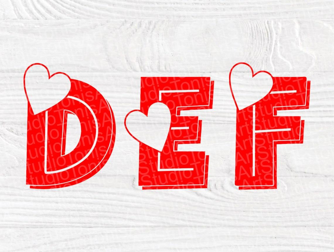 Download Heart Font SVG   Valentines Alphabet Svg   Font Cut Files ...