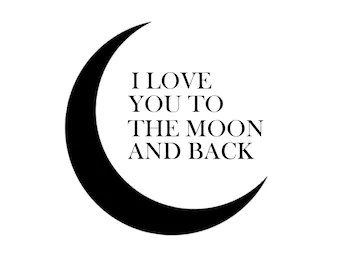 Download I love you to the moon and back svg | Etsy