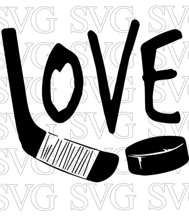 Download Love Hockey Digital File Download SVG PNG Cut File for | Etsy