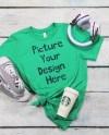 Bella Canvas Style 3001 T Shirt Heather Kelly Green Shirt Etsy