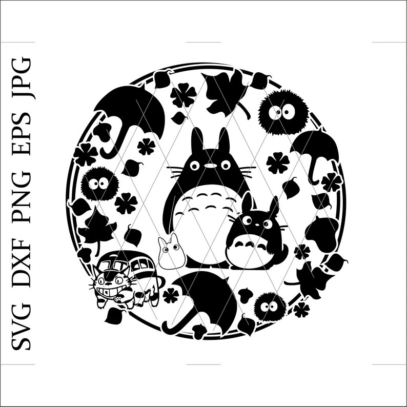 Download My Neighbor Totoro svgTotoro svgBuscat svganime svgTotoro ...