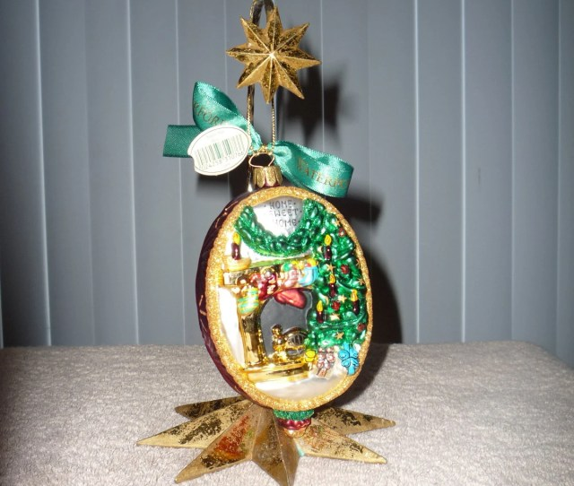 Retired Waterford Christmas Ornament Santa Was Here Part Of Waterford Holiday Heirlooms Collection Rare Vintage And Collectible