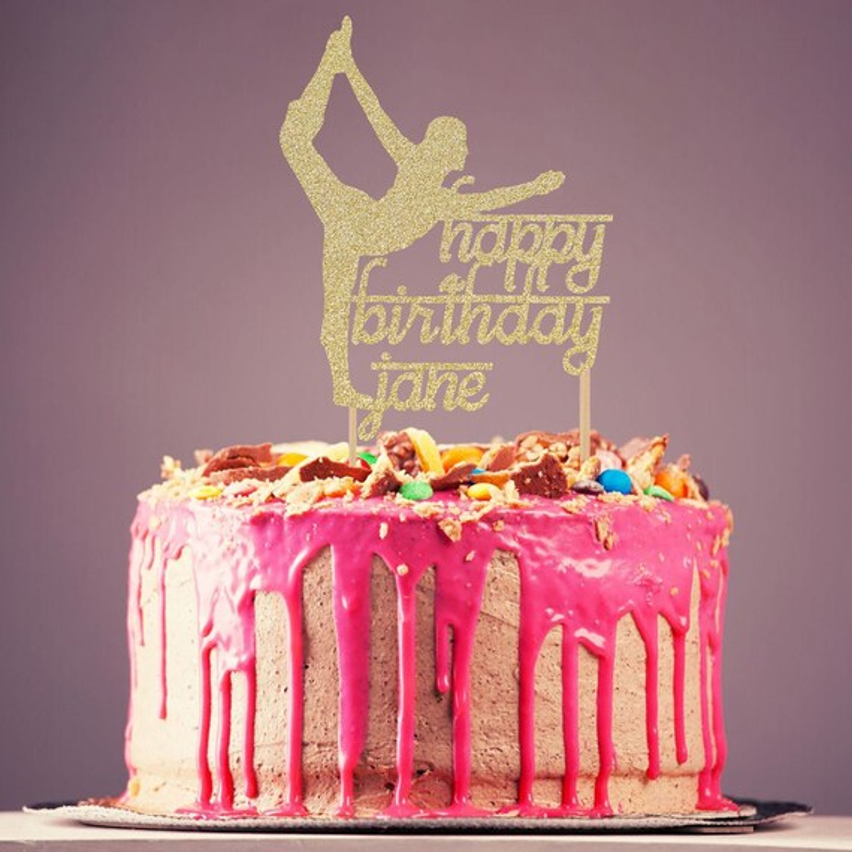 Custom Order Cake Topper Personalized Cake Topper Fitness Toppers Active Yoga Lover Customizable Yoga Cake Topper Namaste Yoga Instructor Kitchen Dining Home Kitchen Mhiberlin De