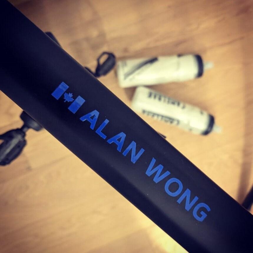 0.5H Personalized Canada Bike Sticker  Bicycle Cyclist JOHN HALL (all bold)