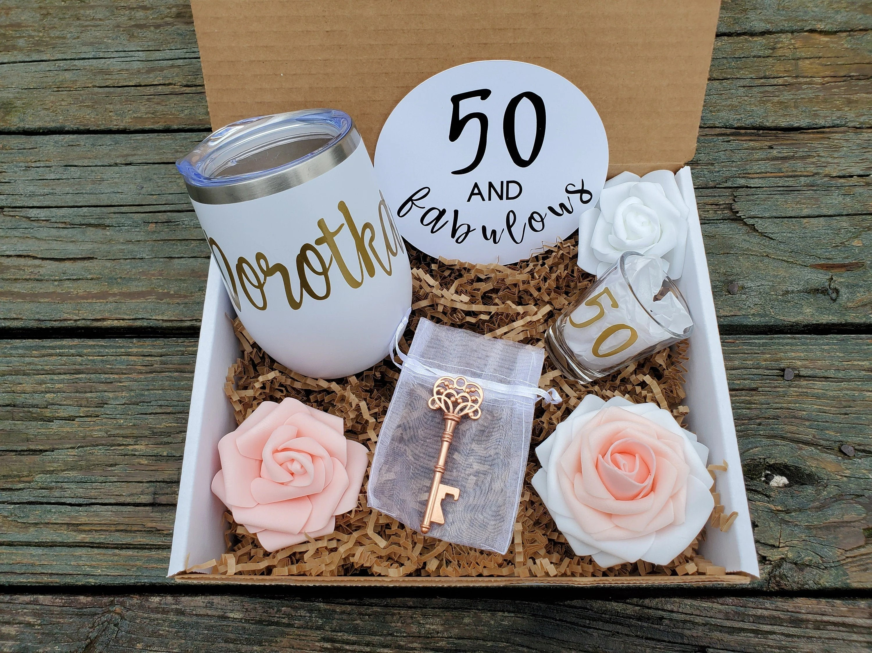 50th Birthday Gift For Women Happy Birthday Gift Box For Etsy