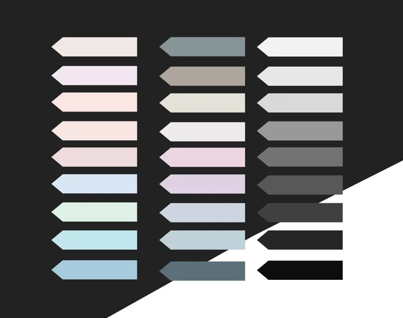 Goodnotes stickers in PNG in Pastel