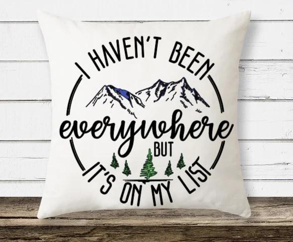 travel throw pillow etsy