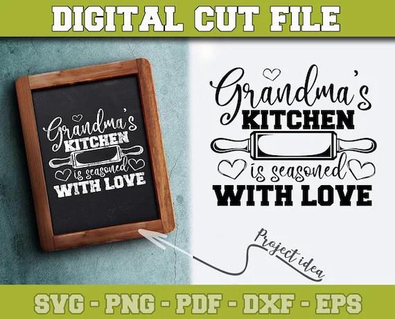Download Grandma's Kitchen is seasoned with love SVG Grandma SVG   Etsy