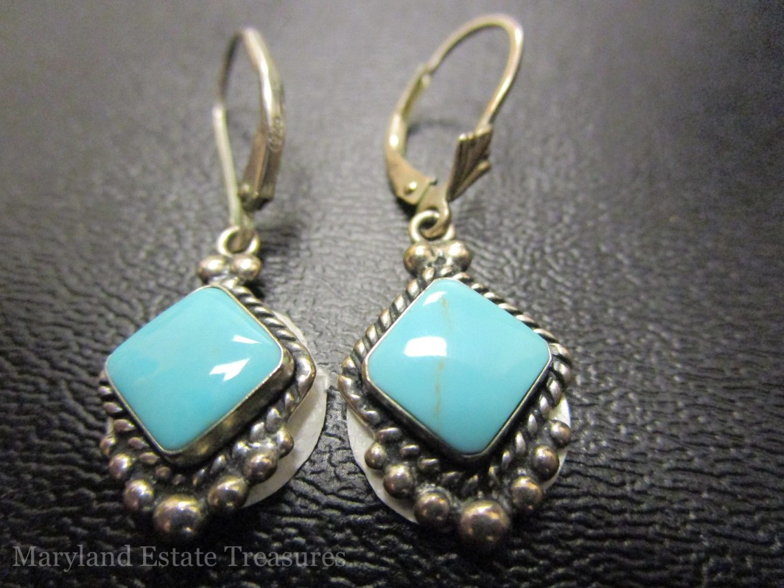 Quoc Turquoise Sterling Silver Earrings
