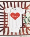 Baby Onesie Personalized Valentines Day Onesie Name In Heart Etsy