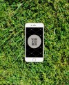 Iphone Mockup On The Grass Outdoor Iphone Mockup Psd Jpg Etsy