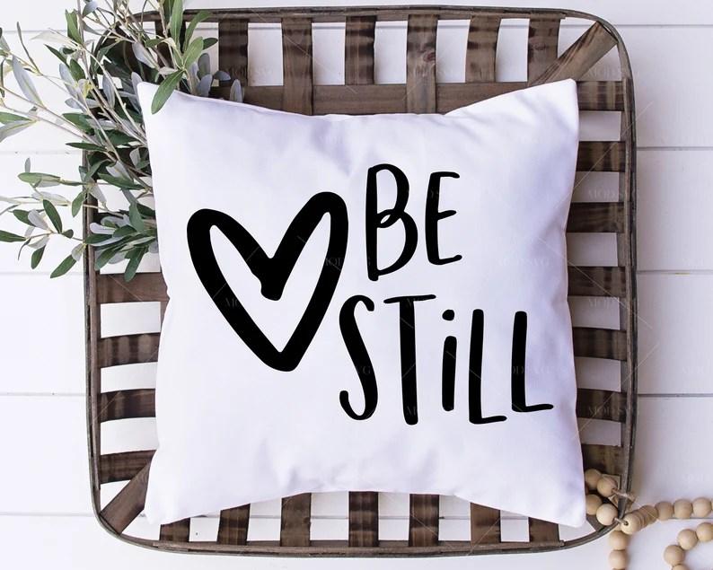 Download Be Still SVG Printable Love SVG Bible Verse Svg Family   Etsy