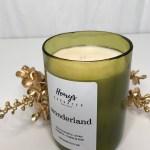 Wonderland Wine Bottle Candle Christmas Tree Holiday Fragrance