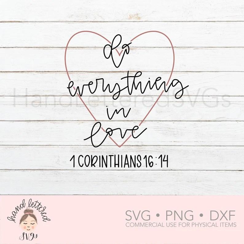 Download Do Everything In Love SVG Hand Lettered SVG Christian svg ...