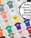 Bella Canvas 3001 T Shirt Mockup Bundle Flat Lay Modern Mock Etsy