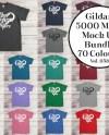 Gildan Heavy T Shirt Mockup Bundle All 70 Colours Gildan 5000 Etsy