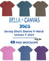 Bella Canvas 3005 T Shirt Mockup Mega Bundle Bella Canvas Etsy