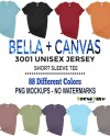 Bella Canvas 3001 T Shirt Mockup Mega Bundle Bella Canvas Etsy