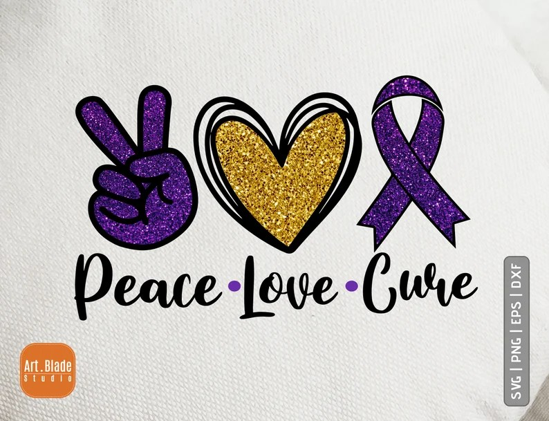 Download Peace love Cure svg png dxf Lupus svg Lupus Awareness svg ...