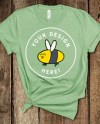 Bella Canvas 3001 Leaf Green Unisex Tshirt Mockup Flat Lay Etsy