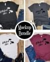 Mockup Bundle Bella Canvas 3001 Unisex T Shirt Heather Etsy