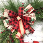 Red Truck Farmhouse Christmas Wreath For Front Door Evergreen Wreath For Front Porch Rustic Country Holiday Christmas Decor 27 High