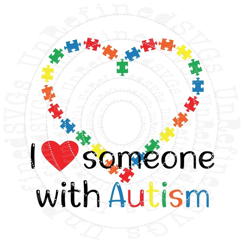 Download I Love Someone with Autism Autism SVG Puzzle Heart Autism ...
