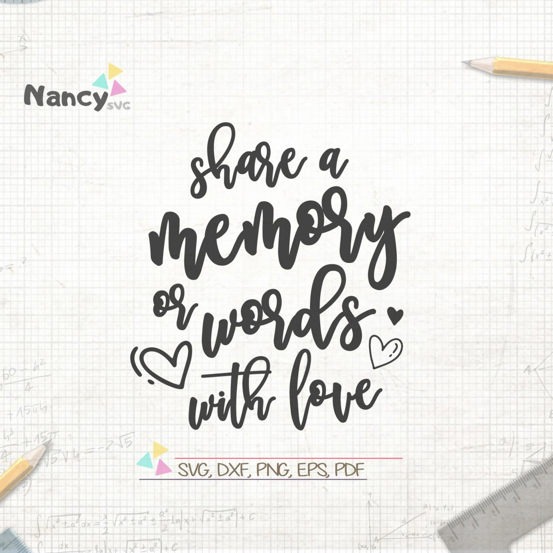 Download Share A Memory Or Words With Love SVG Wedding Guestbook ...