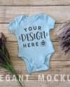 Blue Onesie Mockup Mock Up Onesies Baby Boy Girl Photography Etsy
