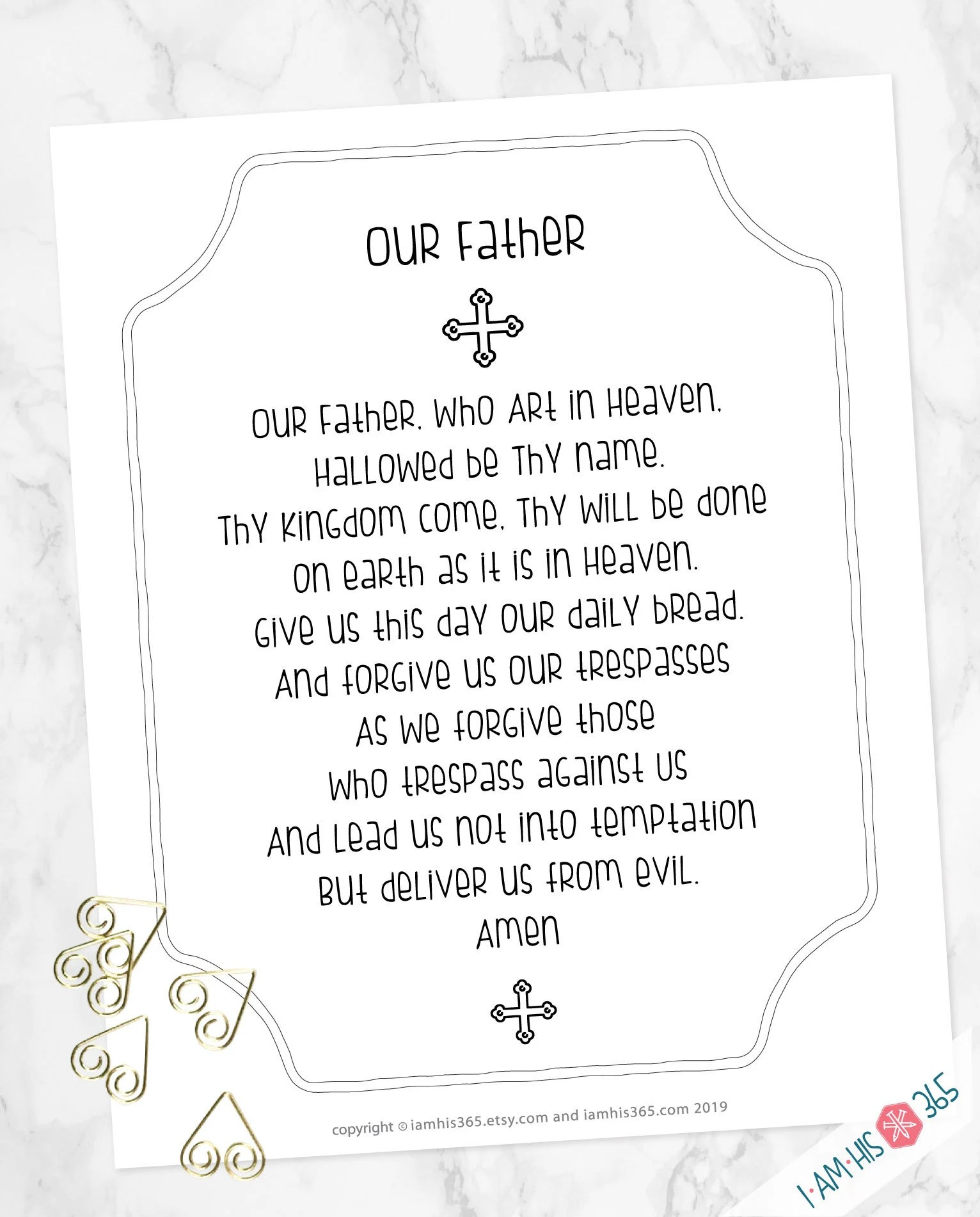 Our Father Prayer Print