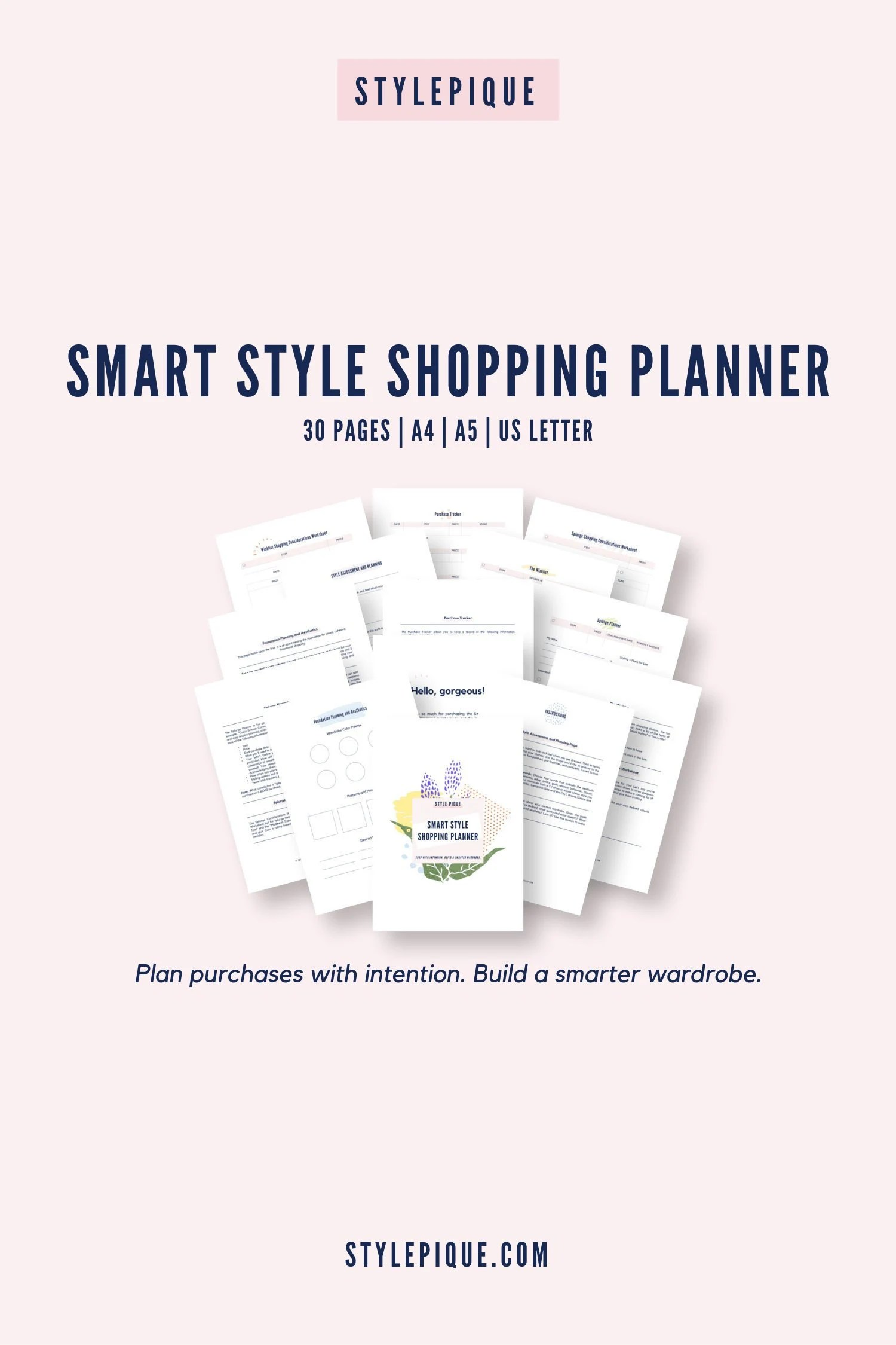 Smart Style Printable Shopping Planner Worksheets A4 A5 Us