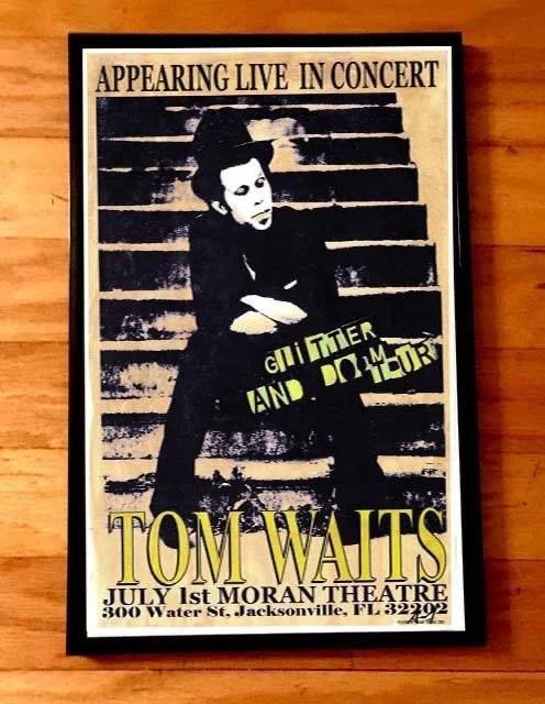 tom waits poster etsy