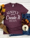 Bella Canvas Mockup Bella 3001 Heather Maroon Heather Etsy