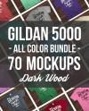 Gildan 5000 Mock Up Bundle All Colors On Dark Wood Heavy Etsy