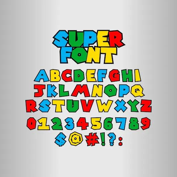 50 Off Super Mario Alphabet Super Mario Font Svg Super Etsy