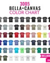 Bella Canvas 3005 Color Chart Mockup Bella Canvas Mockup Etsy