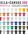 Bella Canvas 3001 Printful Color Chart Mockup Bella Canvas Etsy