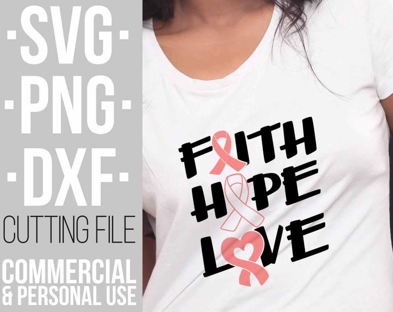 Download Faith Hope Love svg, Breast cancer,Pink ribbon svg ...