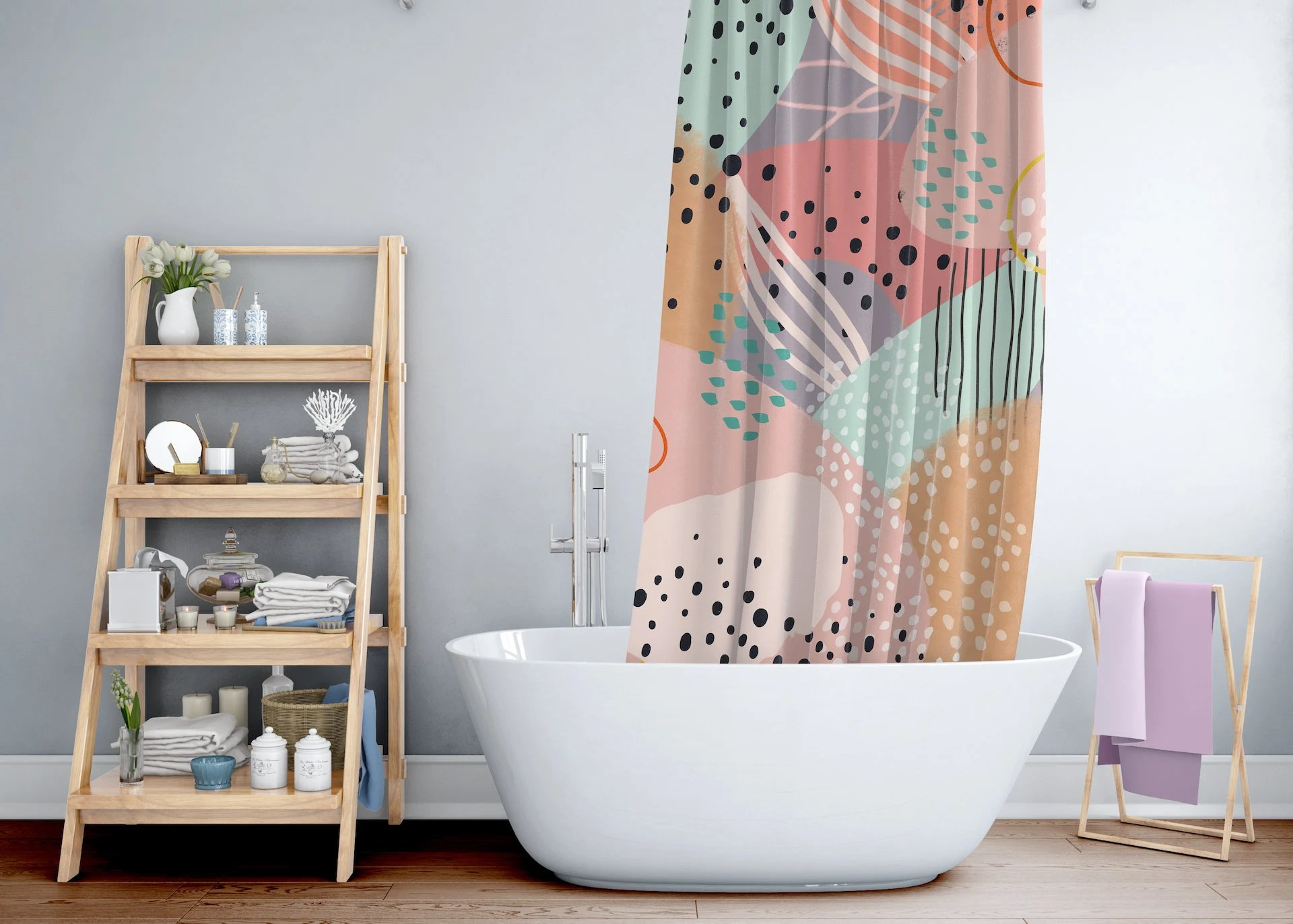 funky shower curtain etsy
