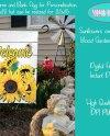 Sublimation Design Sunflowers On Rustic White Barnwood Garden Etsy
